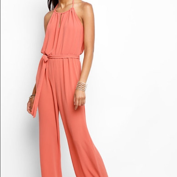 2b92b3a7abfe Anthropologie Abbeline Coral Jumpsuit